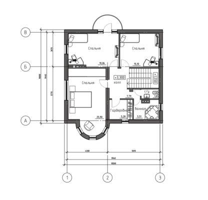Проект комфортабельного дома №П-08 — 166,18 М2 (16,3 х 17,5)