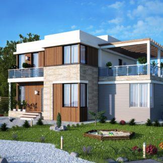 Проект загородного дома №РосП-1 — 185,76 М2 (14,6х11,2)