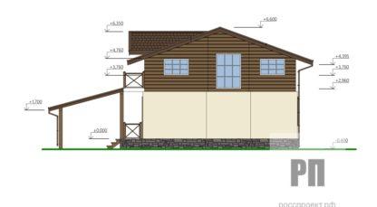 Проект загородного дома №РосП-10 — 157,1 М2 (14,3х9,1)