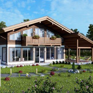 Проект загородного дома №РосП-2 — 225,4 М2 (11,5х10,2)