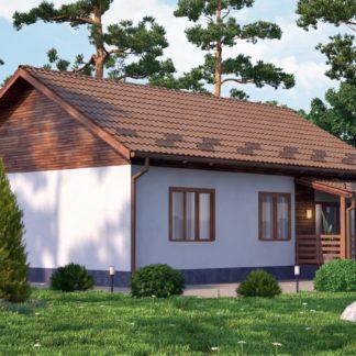 Проект загородного дома №РосП-3 — 97,50 М2 (9х12,3)