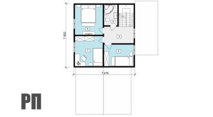Проект загородного дома №РосП-6 — 225,4 М2