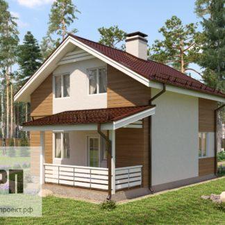 Проект загородного дома №РосП-7 — 83,1 М2 (7,2х7)