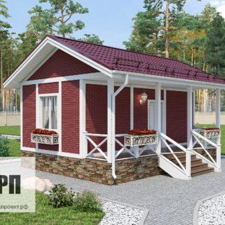 Проект загородного дома №РосП-9 — 25,9 М2 (7,5х5,5)