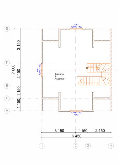 Проект дома № 1771 — 83 м2 (6 х 8)