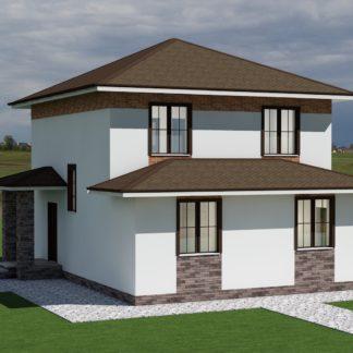 Проект двухэтажного дома № 2574 — 115 м2 (8 х 10)