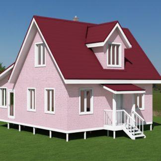 Проект компактного дома № 2766 — 77 м2 (7 х 10)
